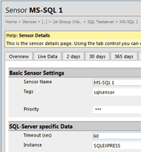 Setup Free SQL Monitoring in PRTG